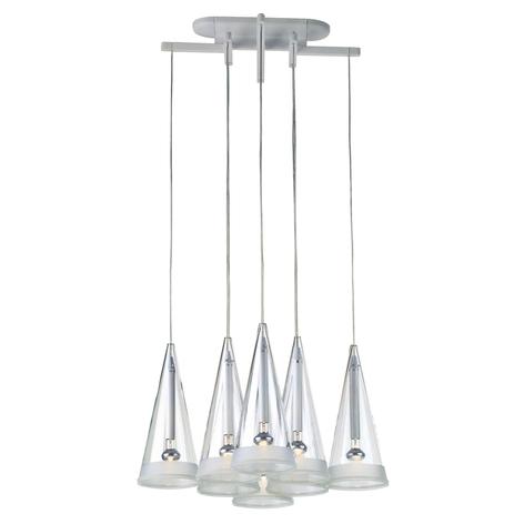 FLOS Fucsia -riippuvalaisin lasinen, 8-lamppuinen