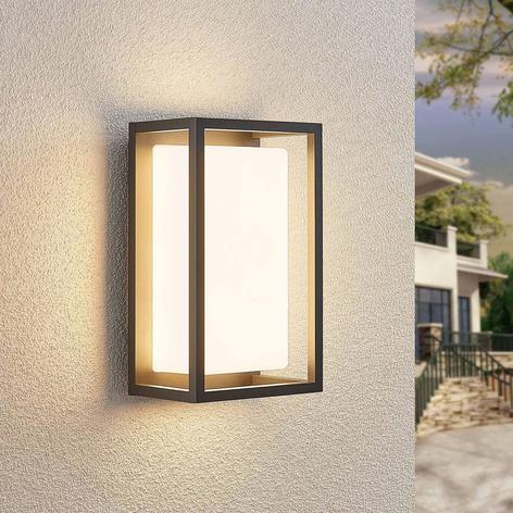 Lucande Ilirian aplique LED de exterior, aluminio