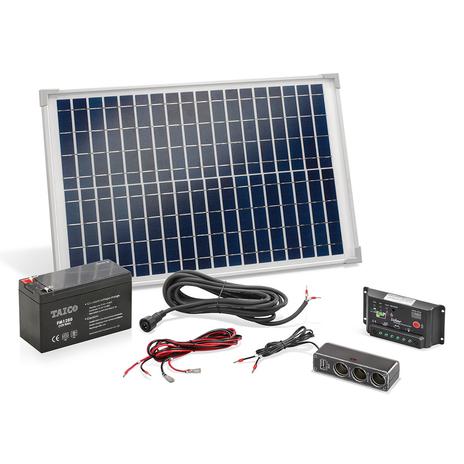 Wyspowy solarny zestaw zasilający 20W