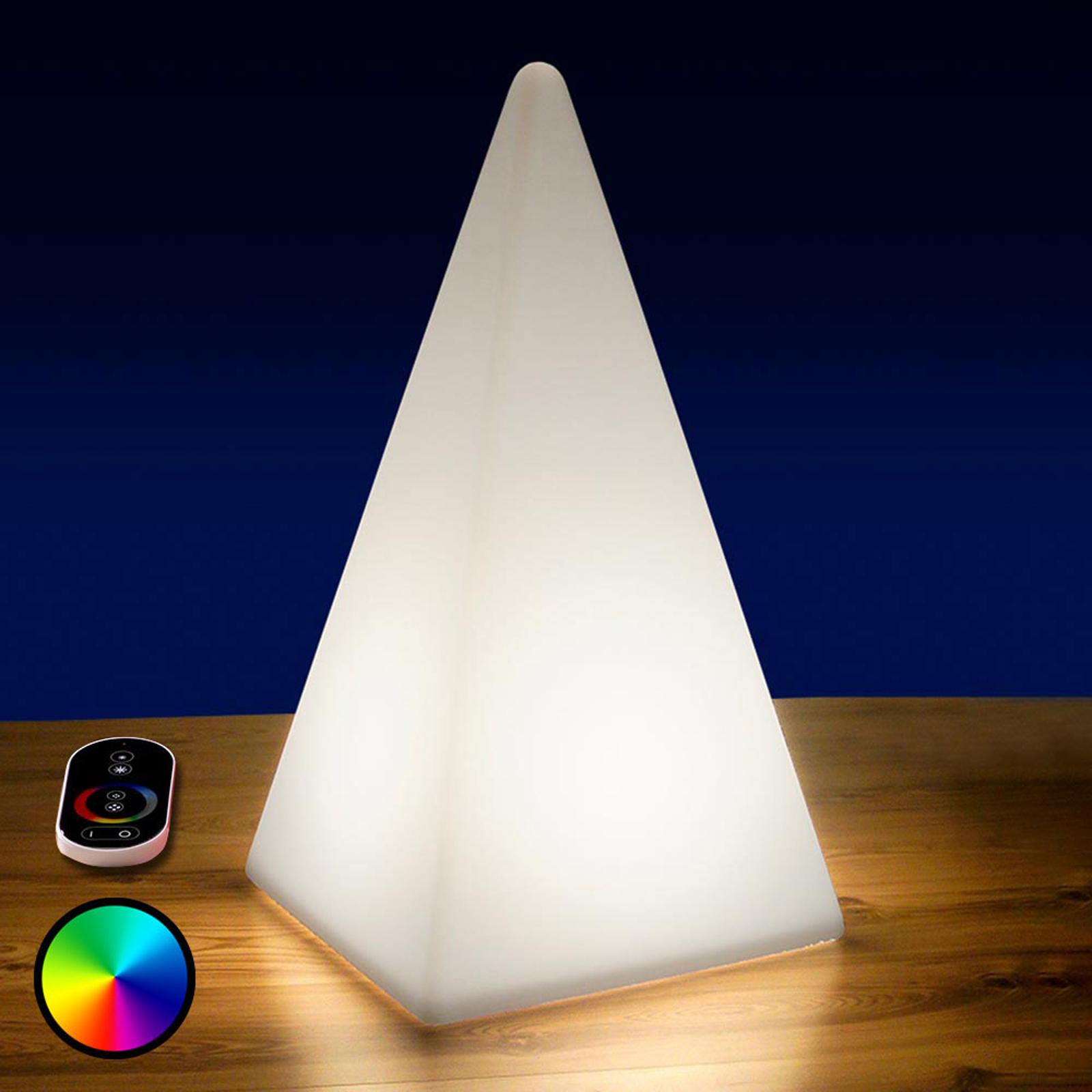 Piramide LED RGB con accumulatore, 73 cm