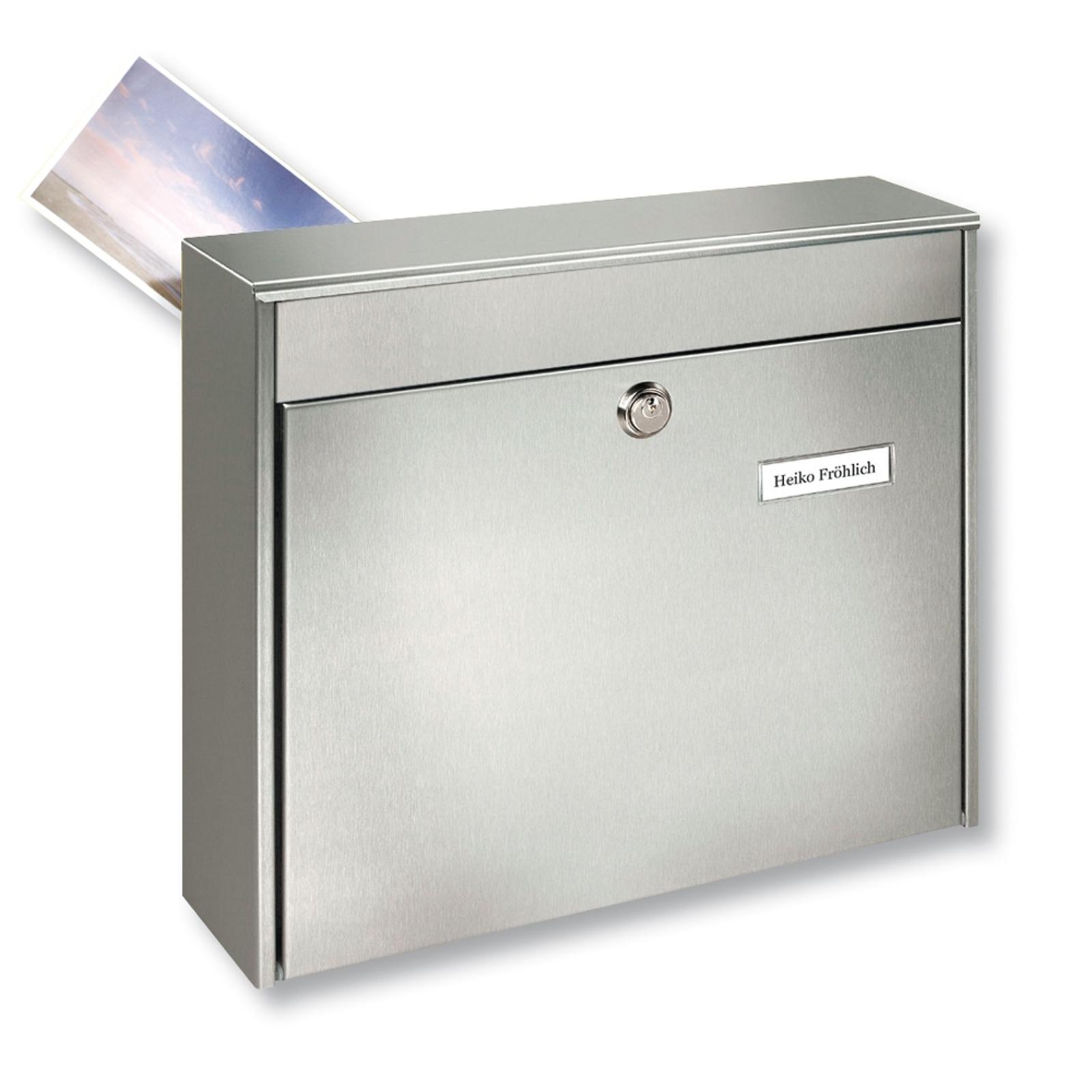 Plotová poštovní schránka Borkum z nerezu