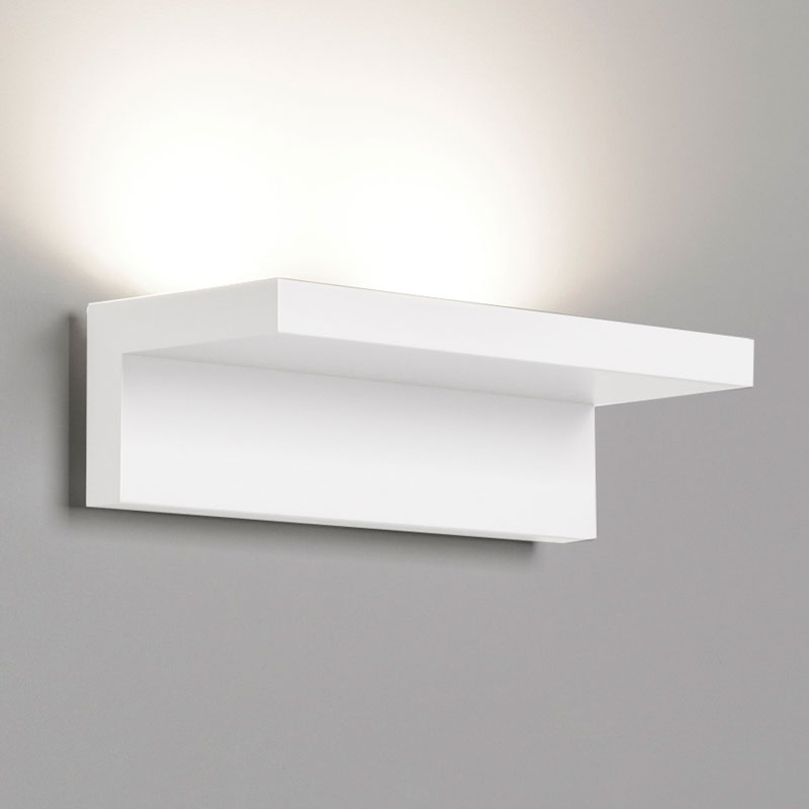Rotaliana Step - weiße LED-Wandleuchte, 25 cm