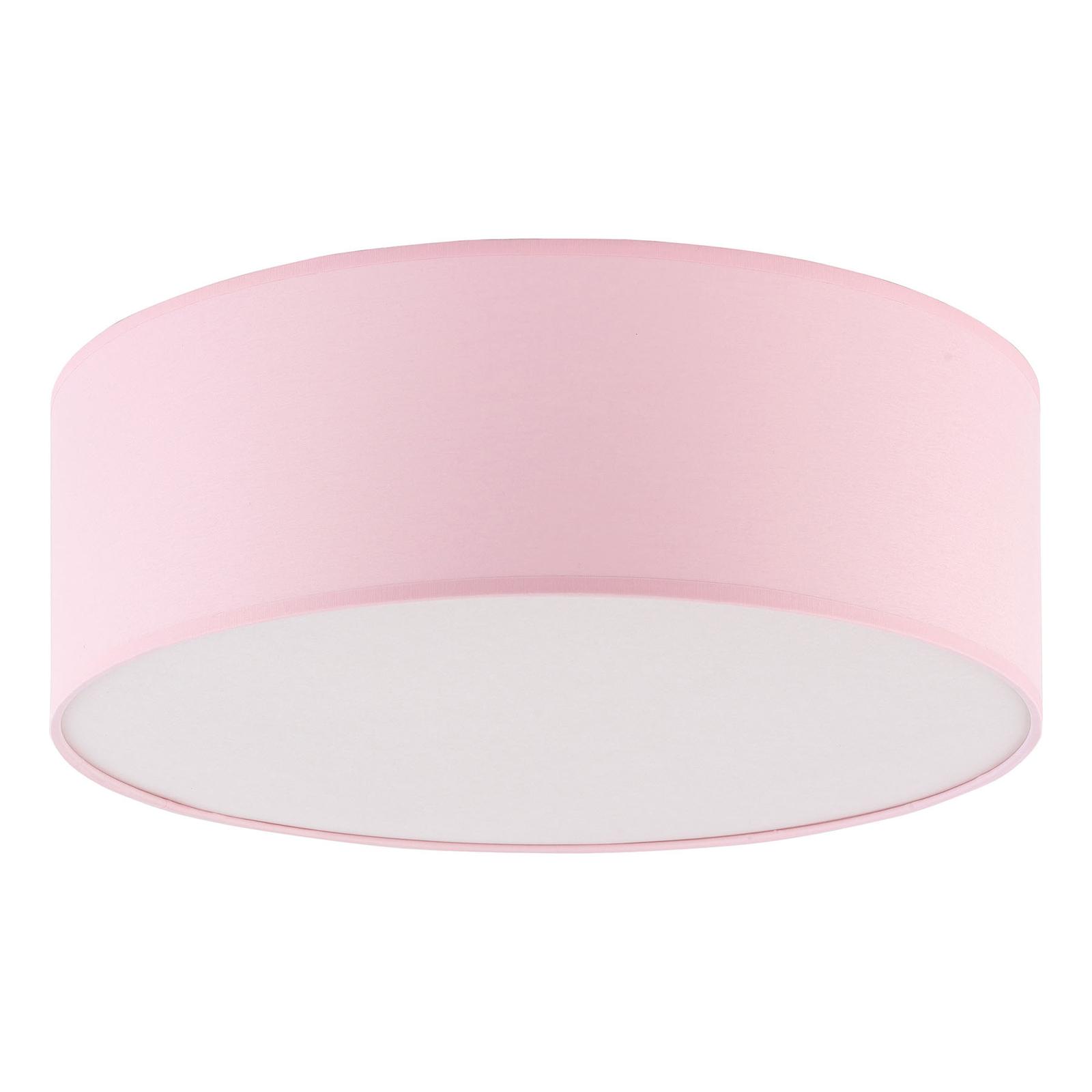 Taklampe Rondo Kids, Ø 38 cm, rosa