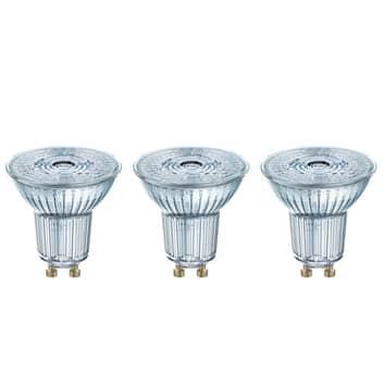 LED reflektor GU10 4,3W, universalhvid, 3'er sæt