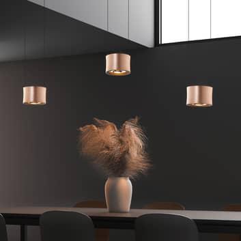 BANKAMP Impulse LED-Hängeleuchte 3fl roségold