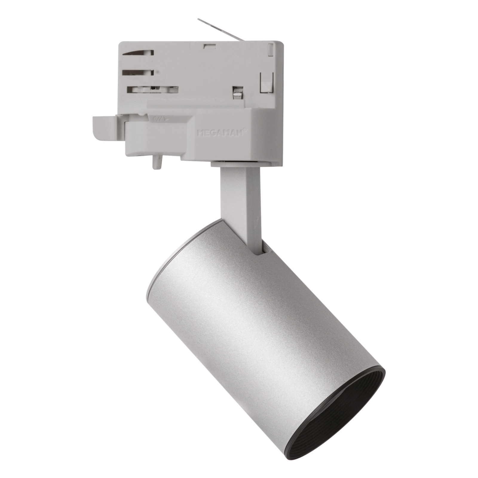 LED spot MarcoMini 3-fase-rail zilver 2.800K