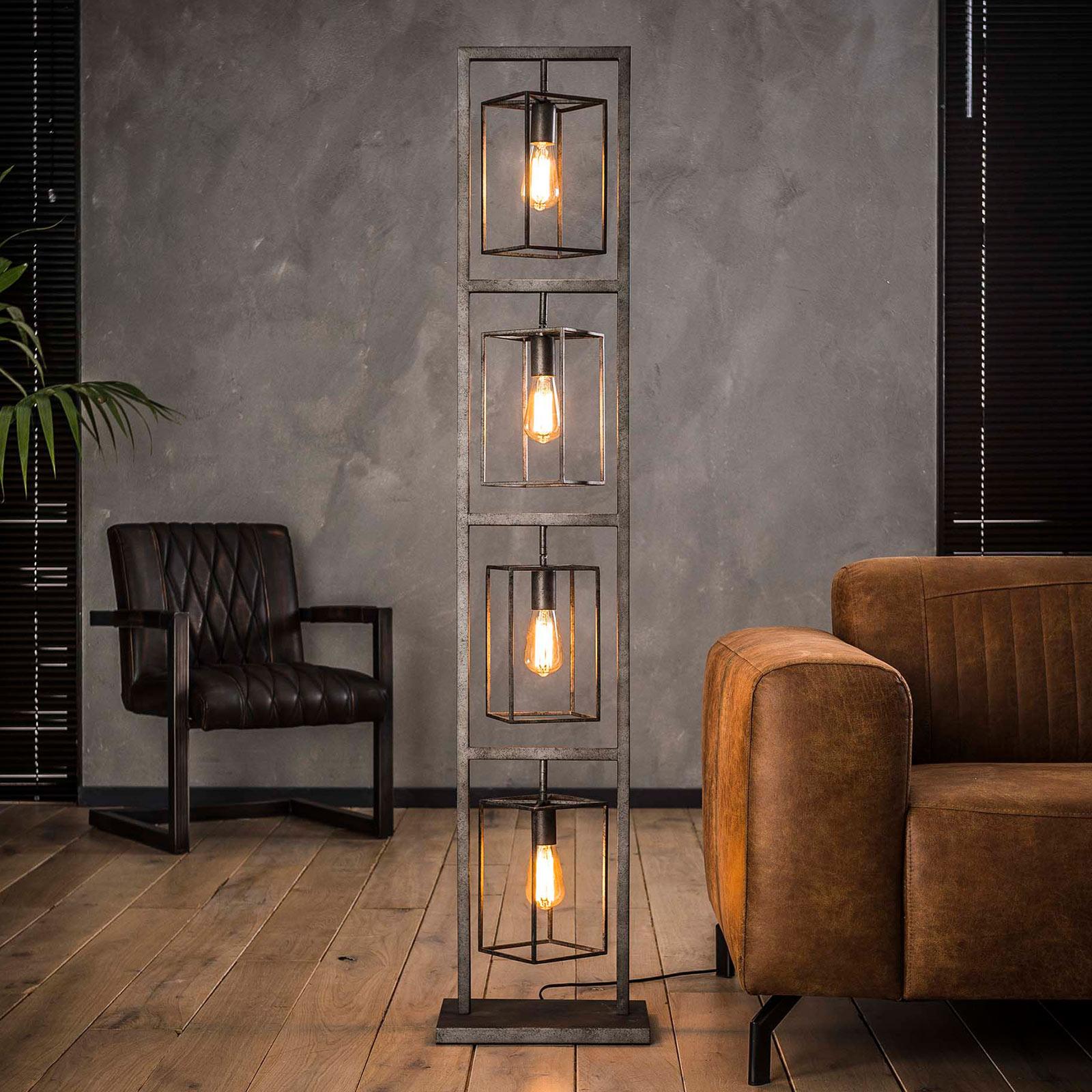 Lámpara de pie Perpendillumina, 4 luces