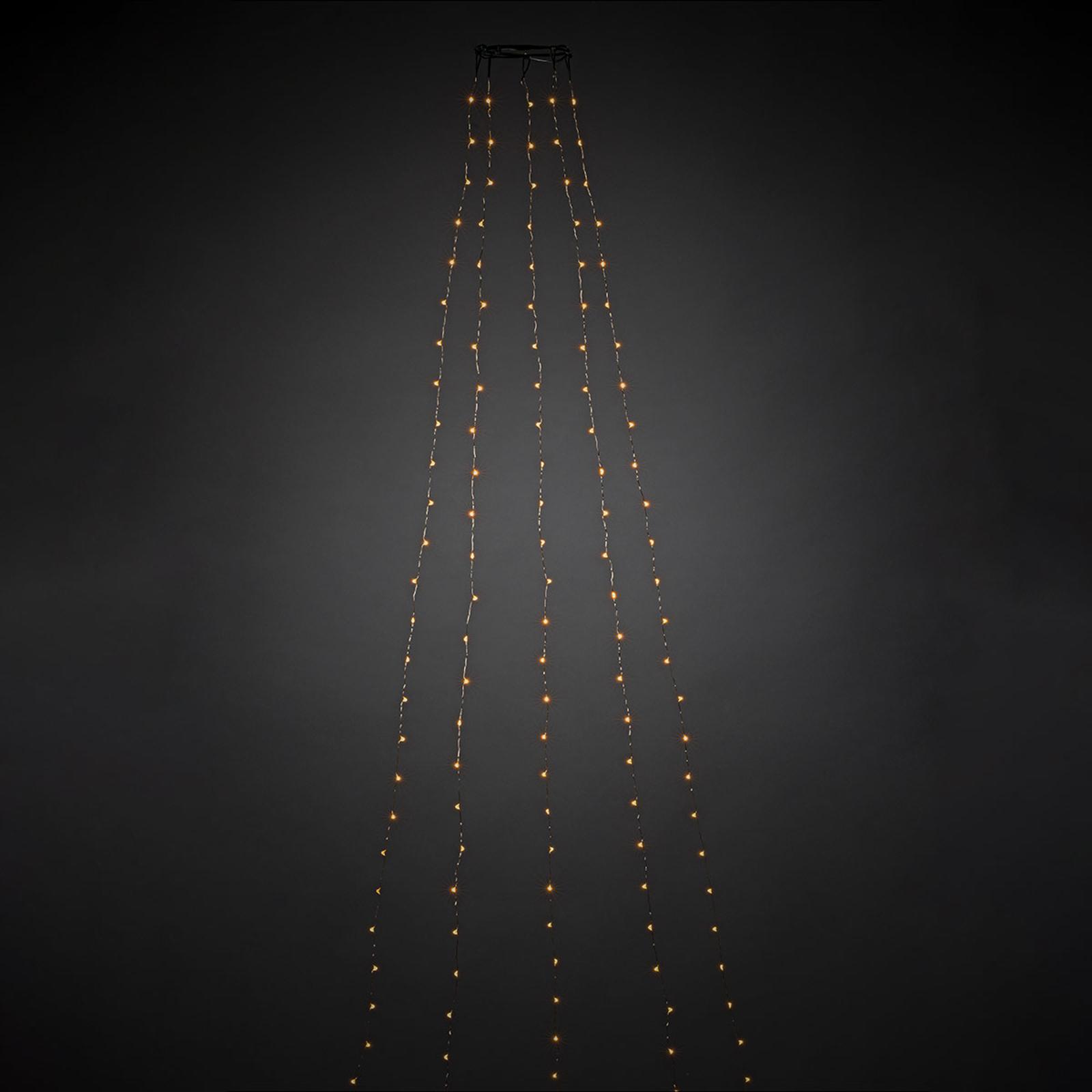 LED-lyskappe med formonterte LED-dråper 180 lys