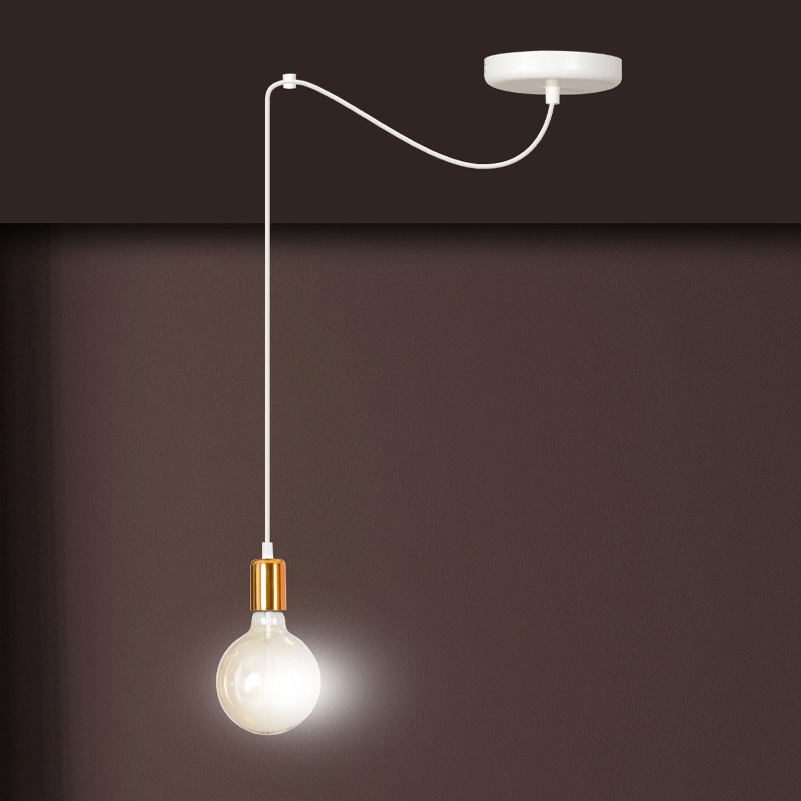Lampa wisząca Spark 1 1-pkt. biało-miedziana