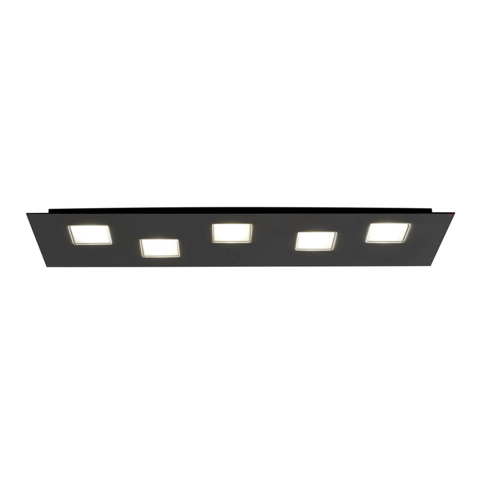 Plafonnier LED Quarter de 70 cm de long, noir