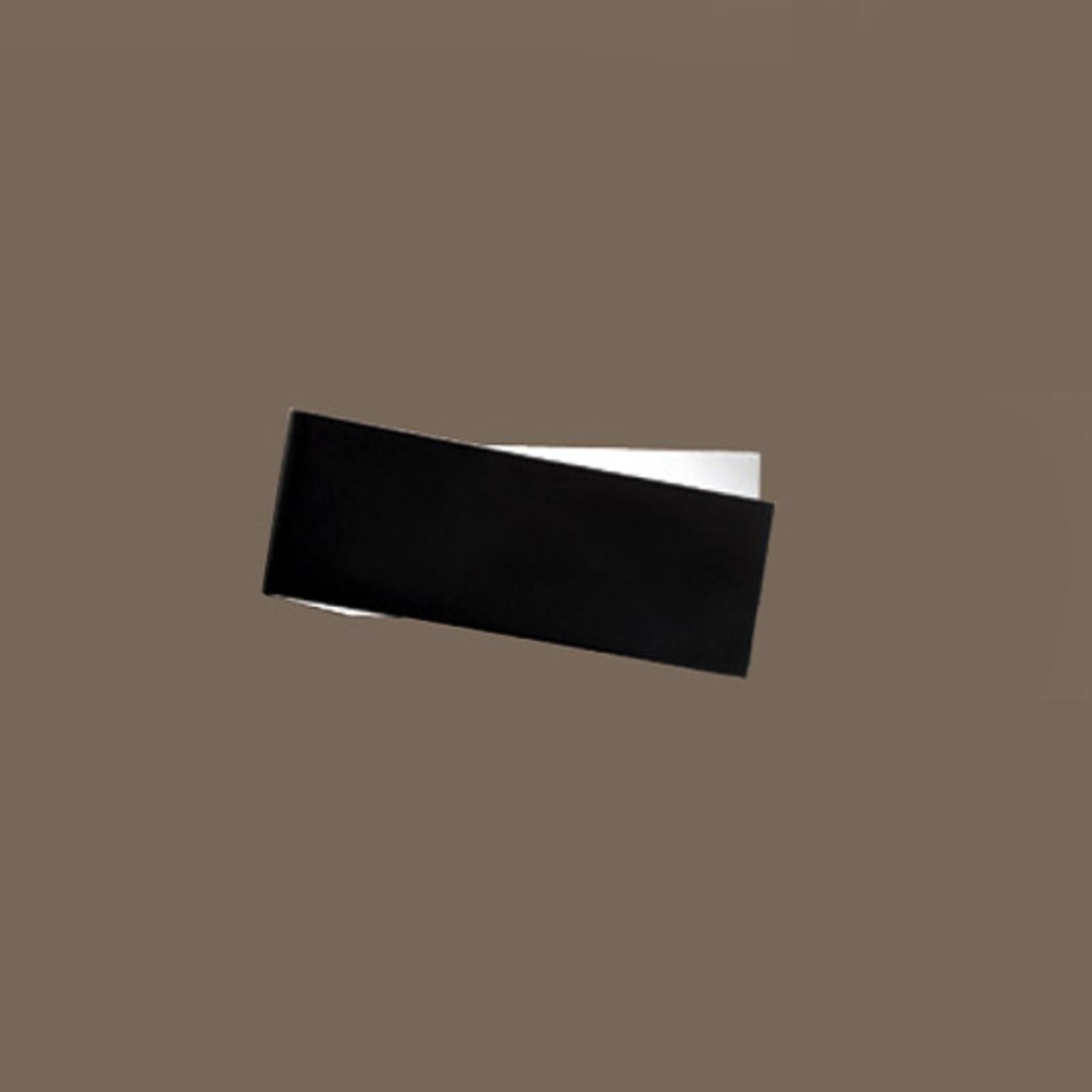 Opvallende wandlamp Zig Zag in zwart-wit, 26 cm