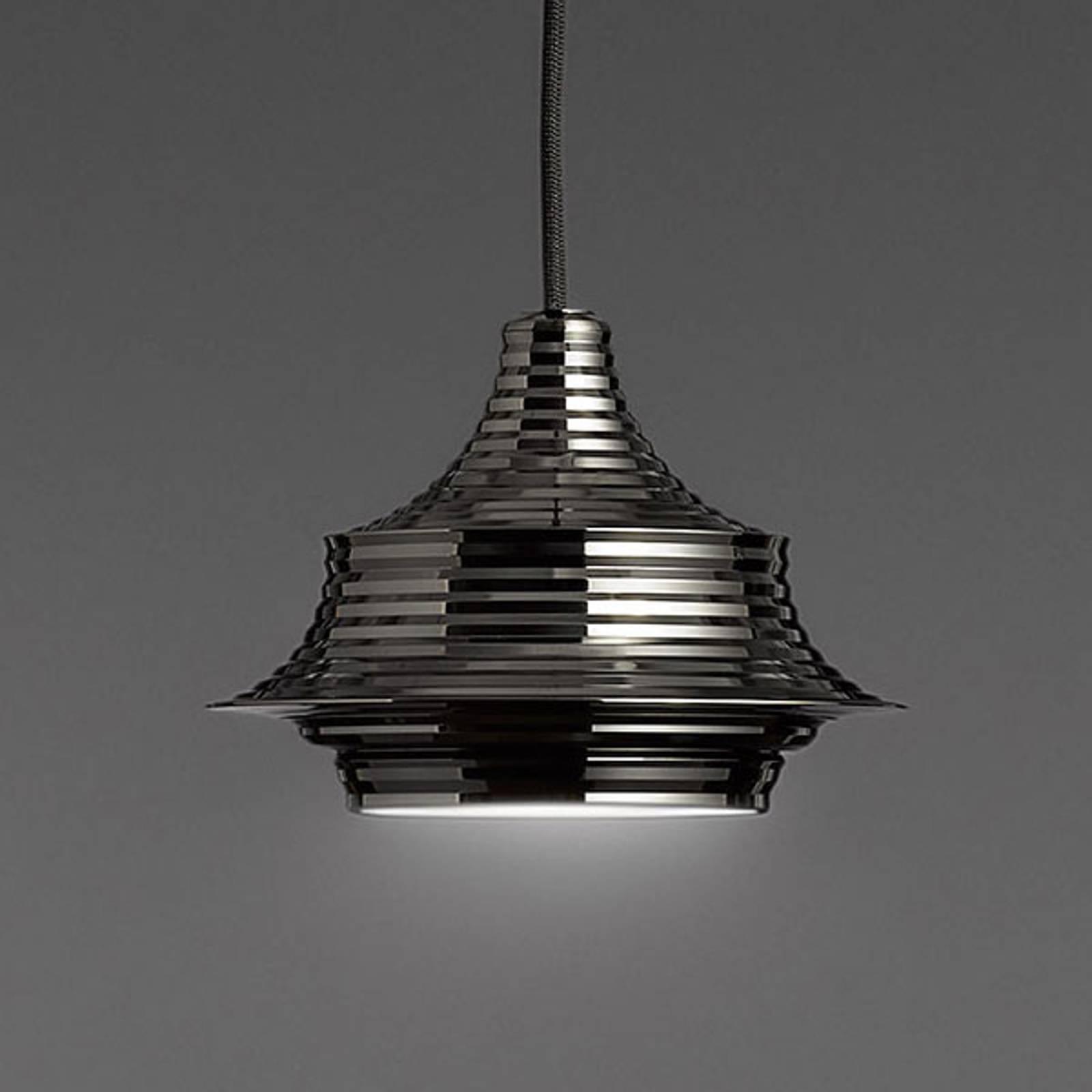 Bover Tibeta 02 - LED-Pendelleuchte, chrom-schwarz