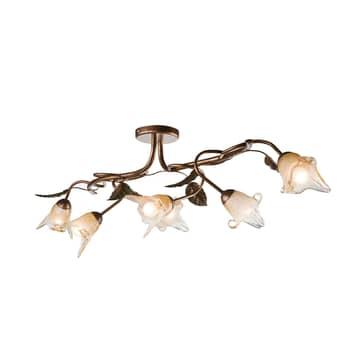 Lámpara de techo Siena, estilo florentino 6 luces
