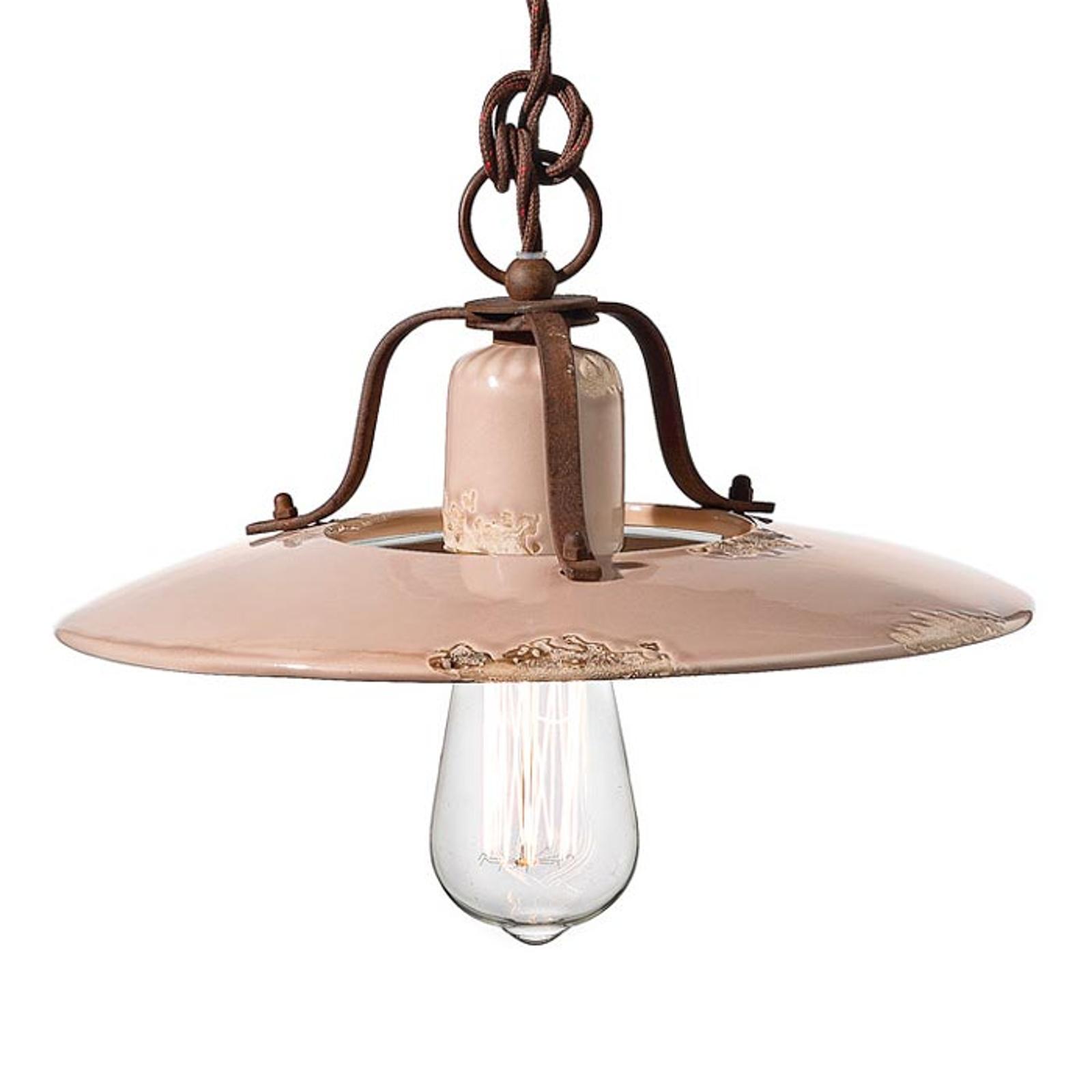 Keramische hanglamp Giorgia, 30 cm, oud roze