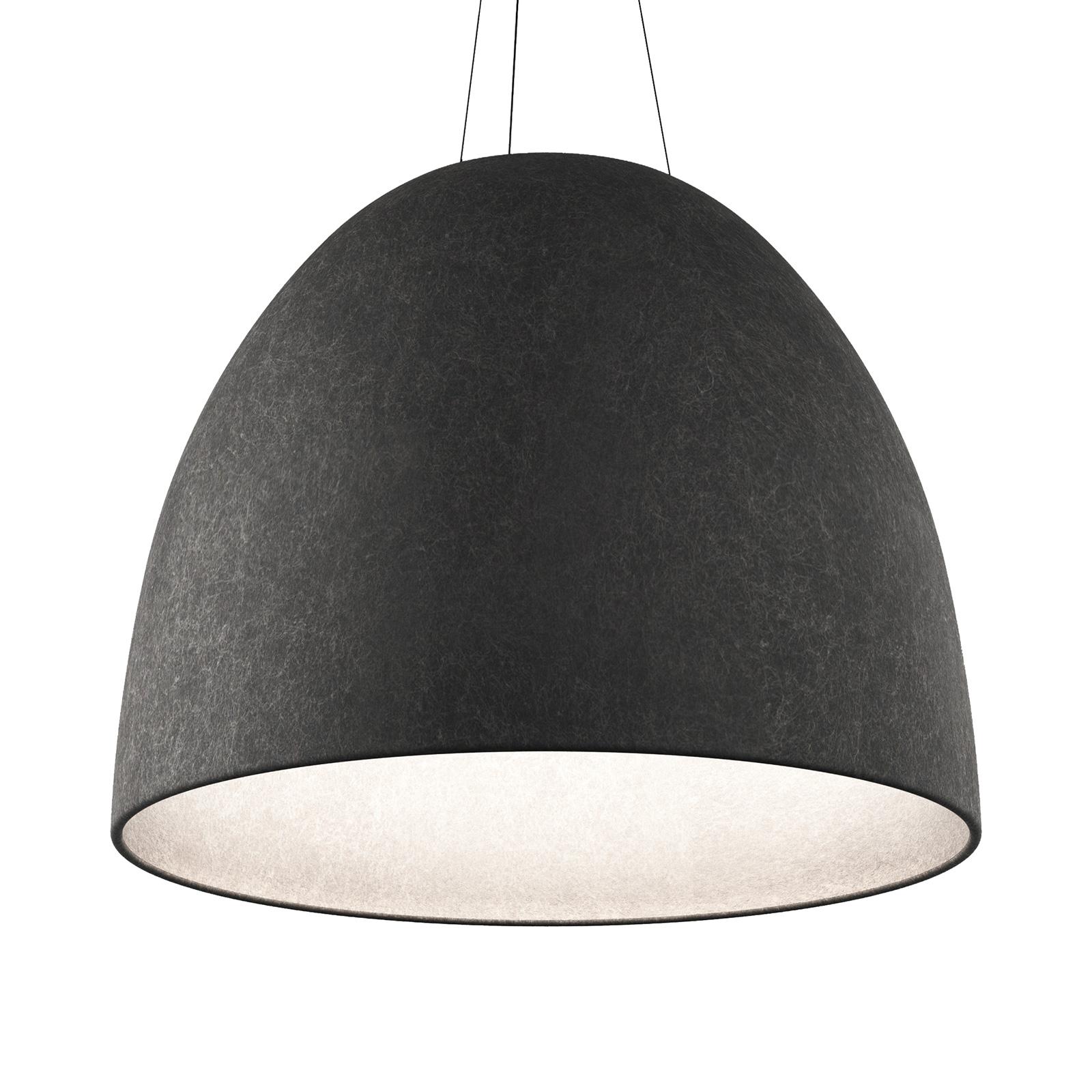 Artemide Nur Acoustic -LED-riippuvalo, harmaa