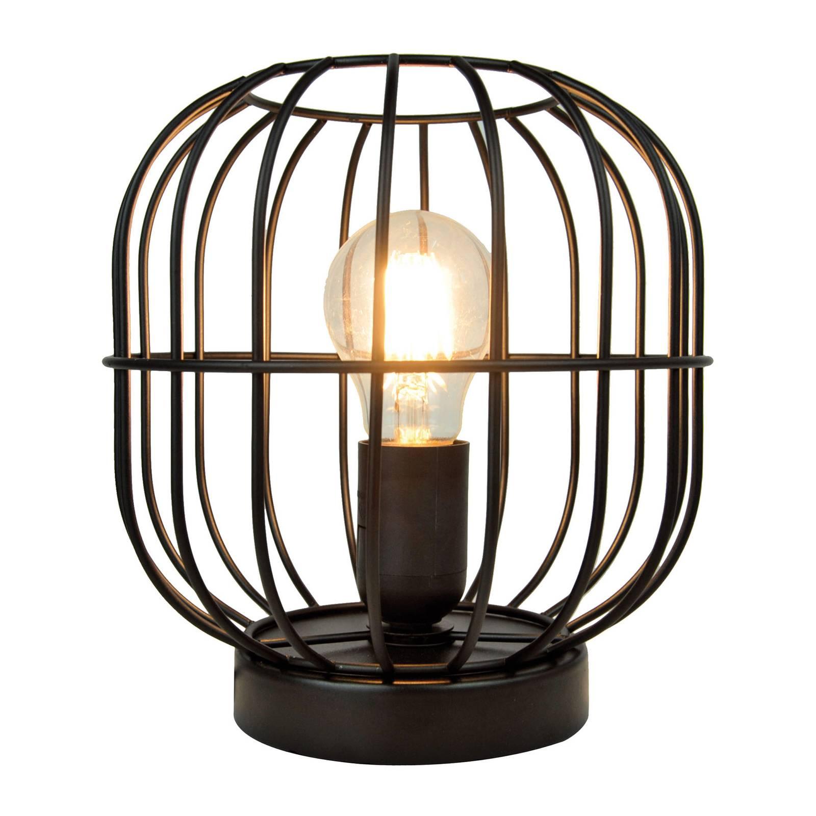 Lampada da tavolo Zenith a gabbia, nero