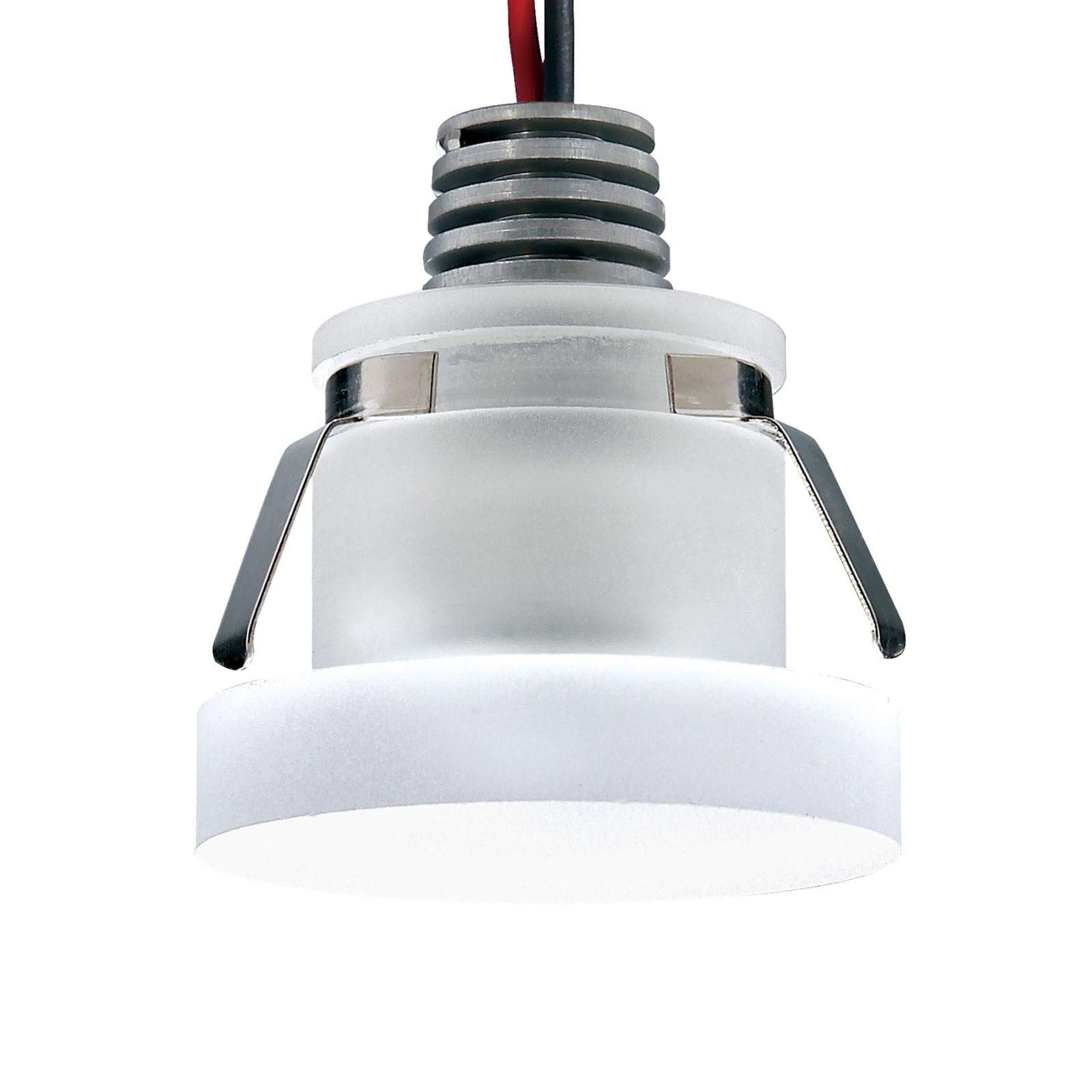 Spot encastré LED Cristalin, rond, IP44