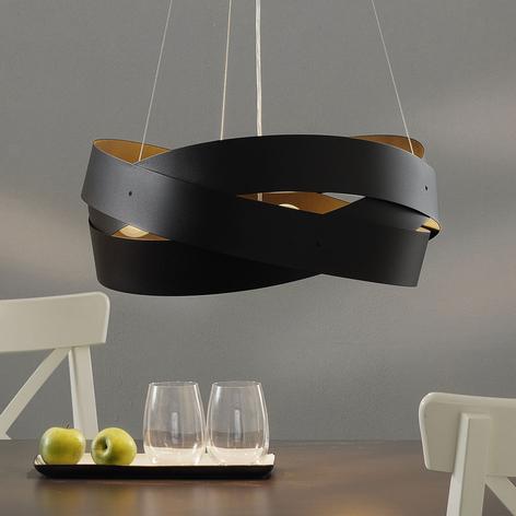 Lámpara colgante Tornado Ø 50 cm negro, 3 luces