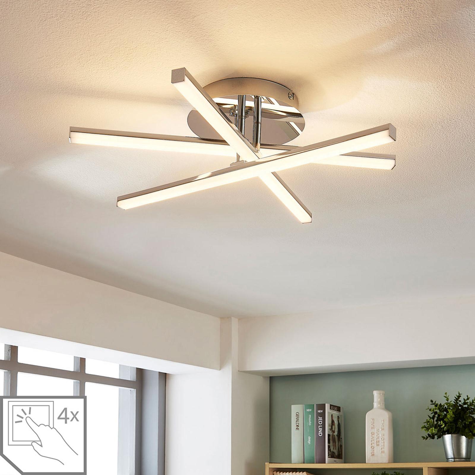 Stropní LED lampa Korona, 4 úrovně stmívání