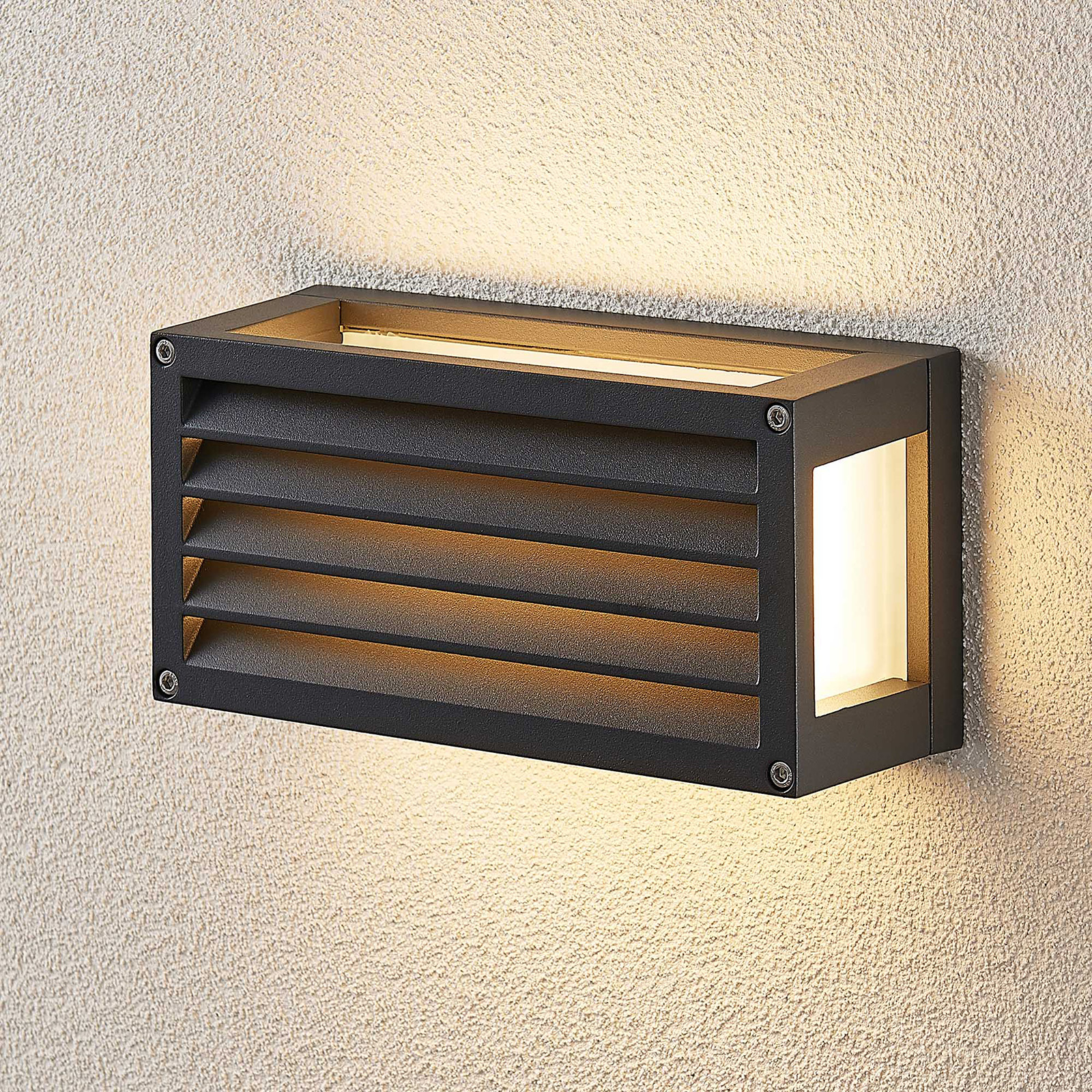 Applique ext. LED Harpa 25 x 12,5 cm avec rainures