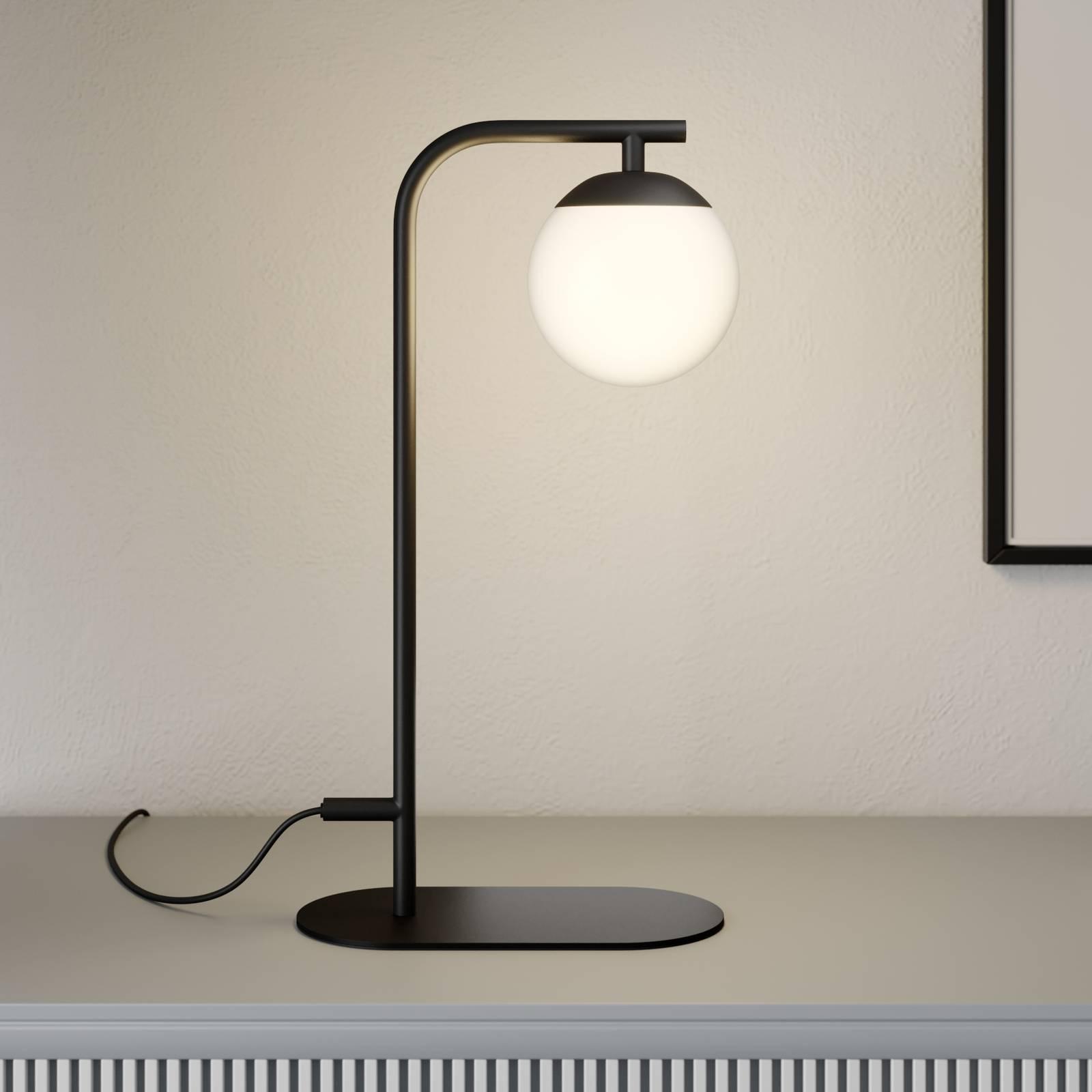 Lucande Rama lampada LED da tavolo con vetro