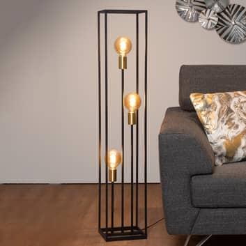 Lámpara de pie Ruben, negro, 3 luces