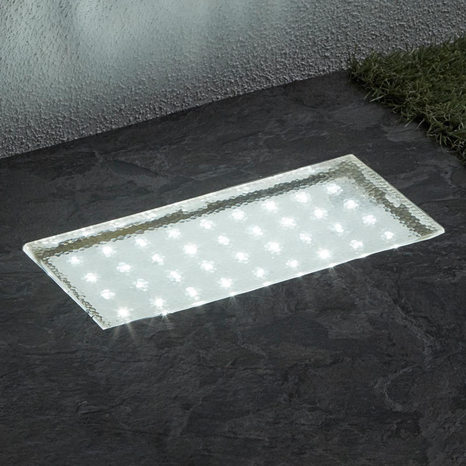 Kulmikas upotettava LED-maaspotti Walkover, 20cm