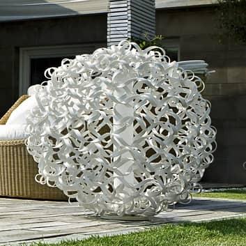 SALOLA - designerska lampa na zewn., biała, 48 cm