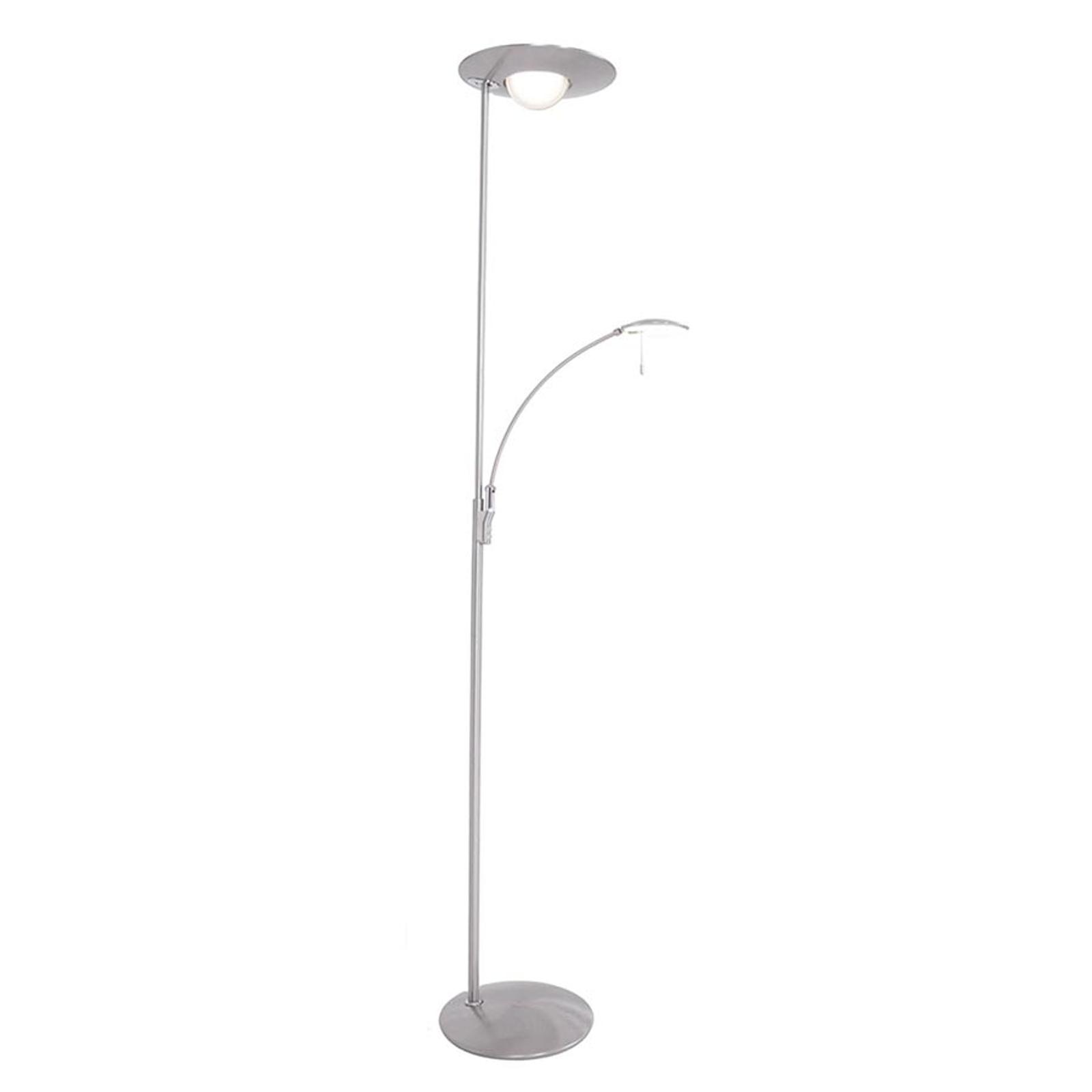 Med lysdæmper – LED-gulvlampe Zenith med læselampe