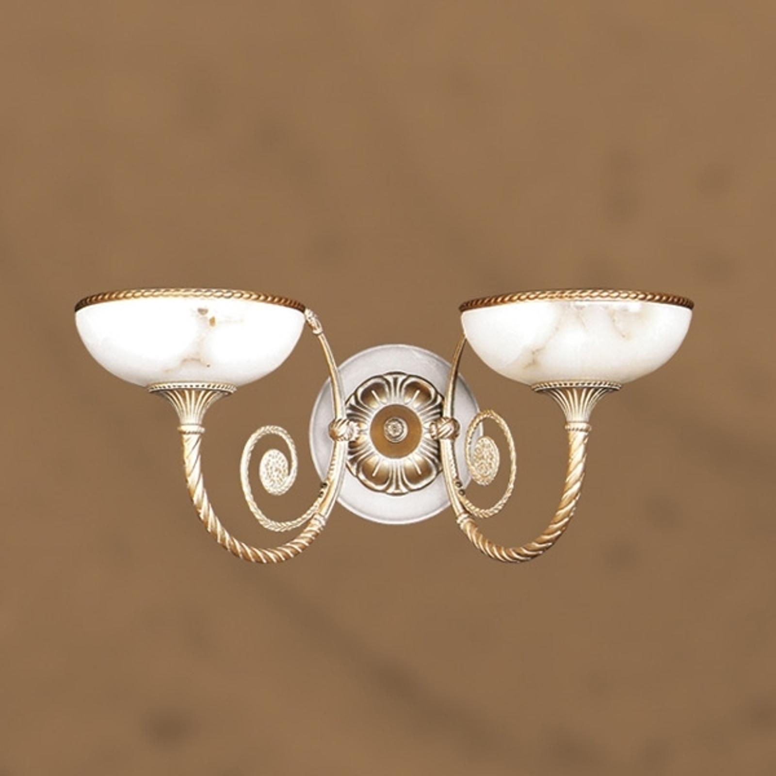 Wandlamp MINERVA met glazen kappen 20 cm