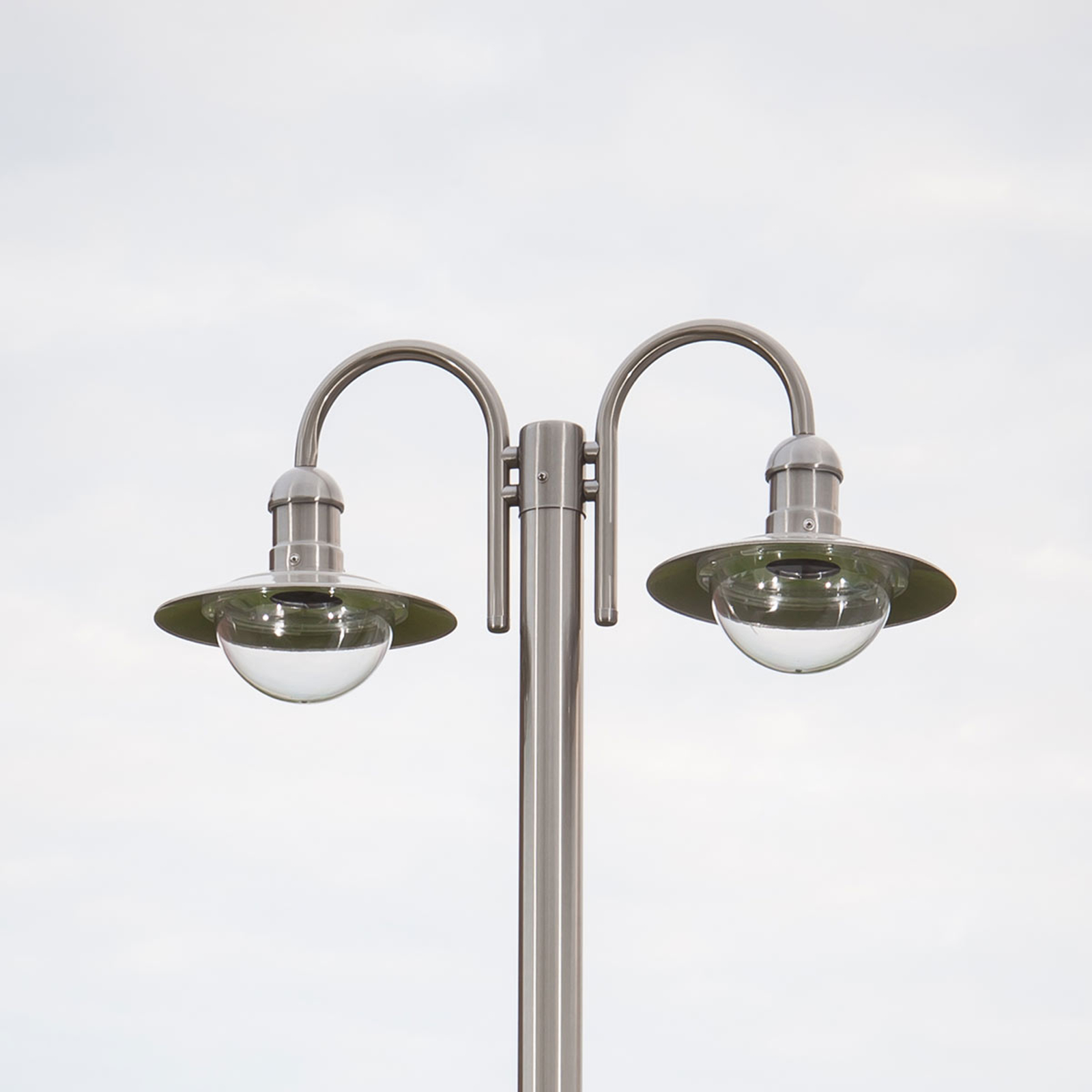 Damion stainless steel post light with two lights_9960019_1