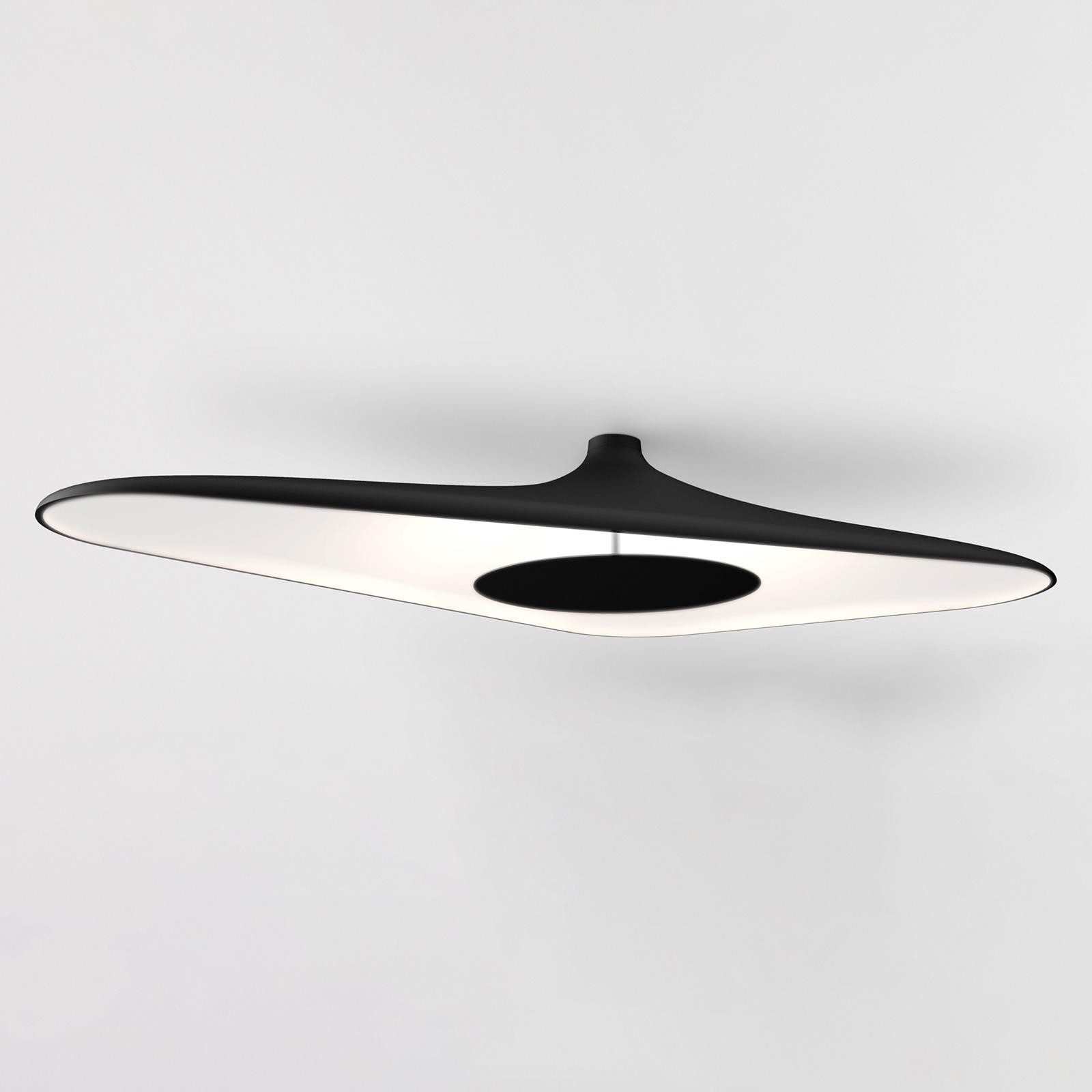 Luceplan Soleil Noir plafonnier LED, noir