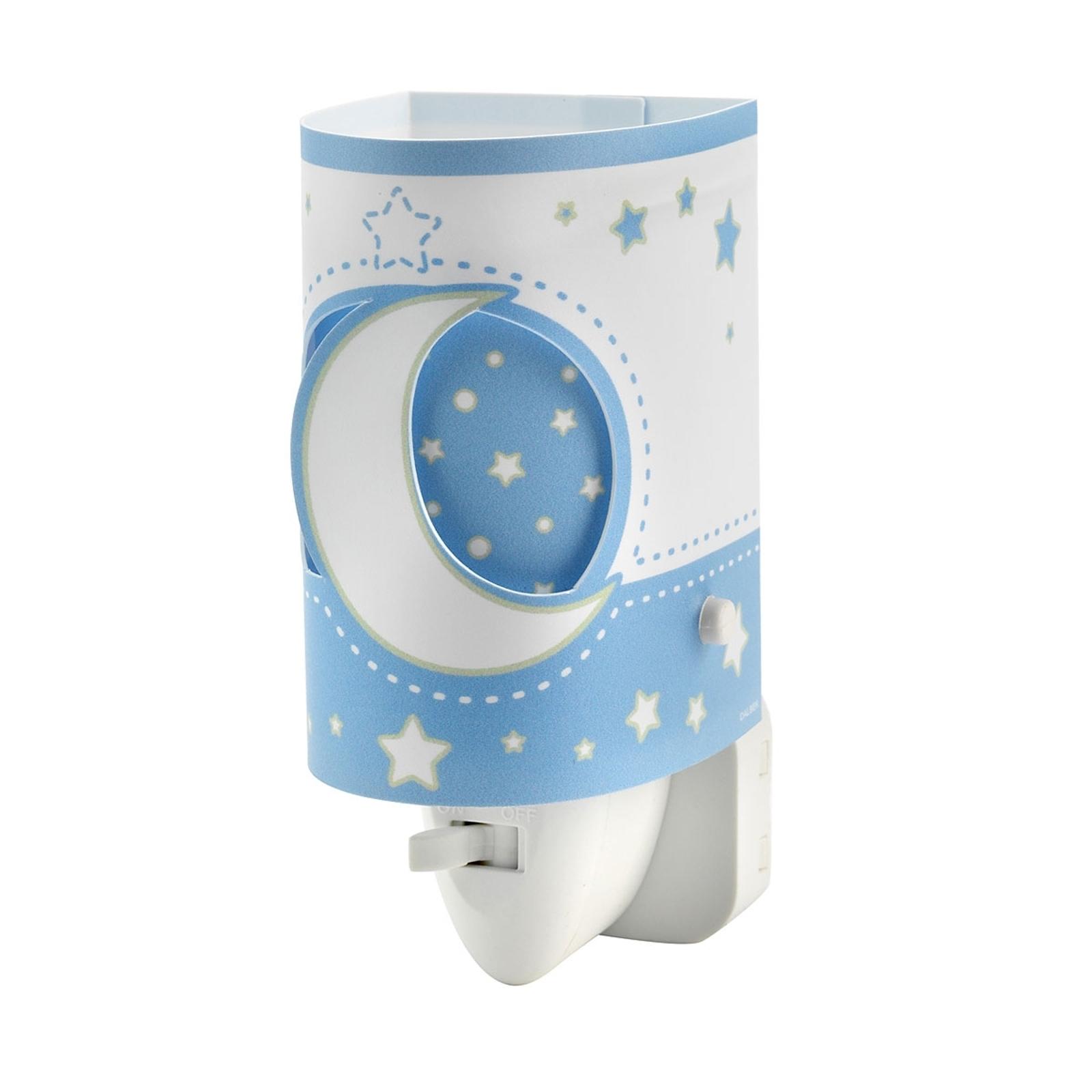 Lámpara nocturna LED Stars, apta bebés azul claro