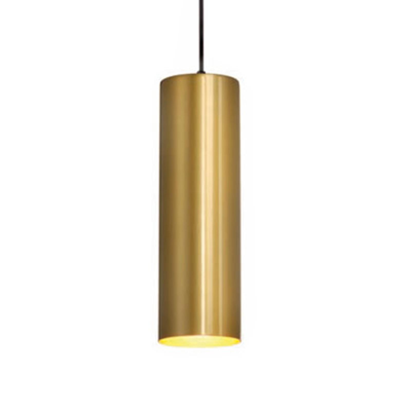 Suspension Enola dorée, de forme affinée