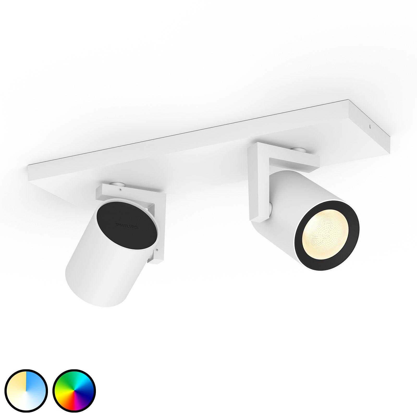 Philips Hue Argenta LED-spot, 2 lyskilder, hvid