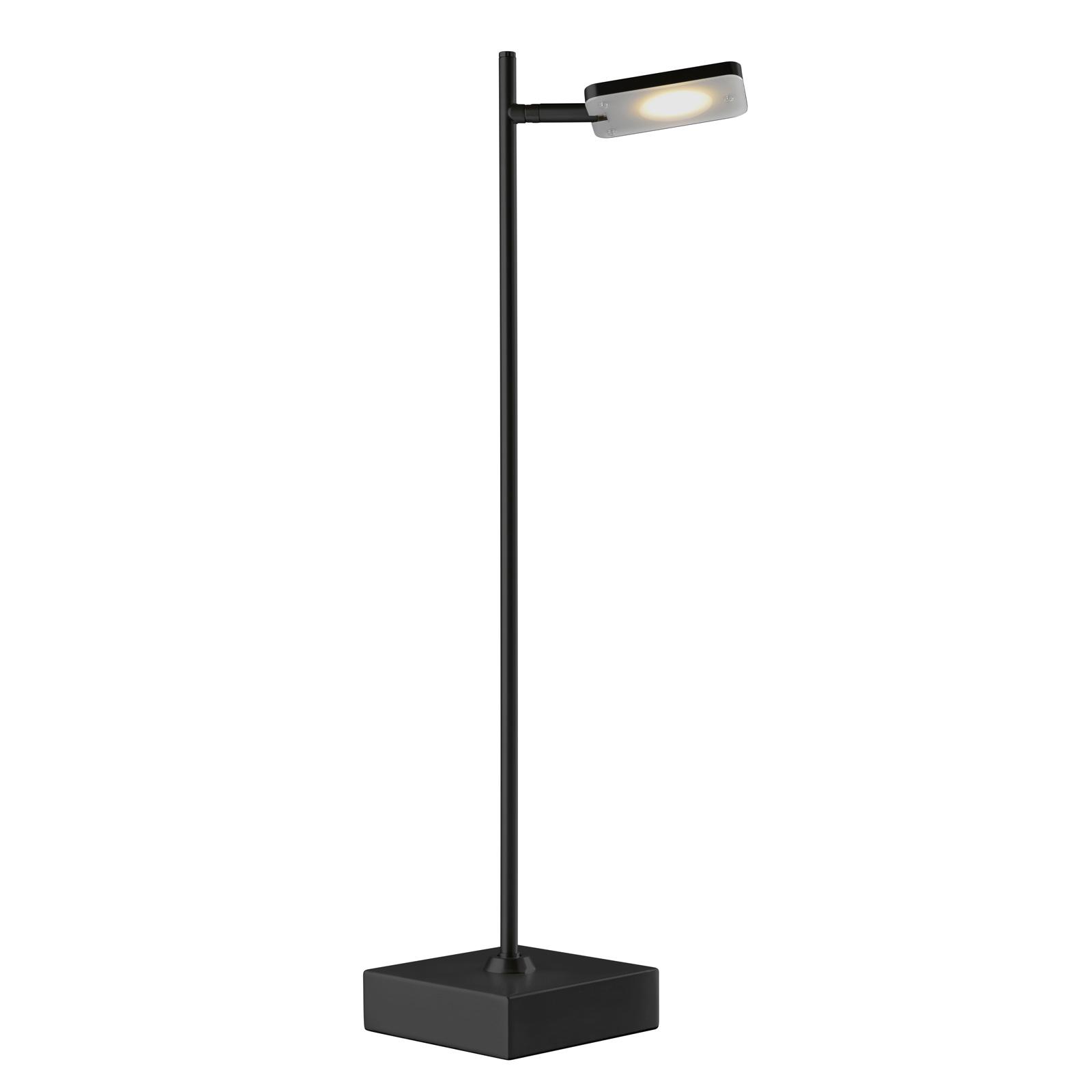 Quad LED-bordlampe, dæmper, 1 lyskilde, sort