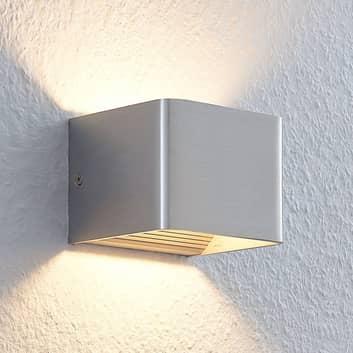 Nikkelkleurige led wandlamp Lonisa