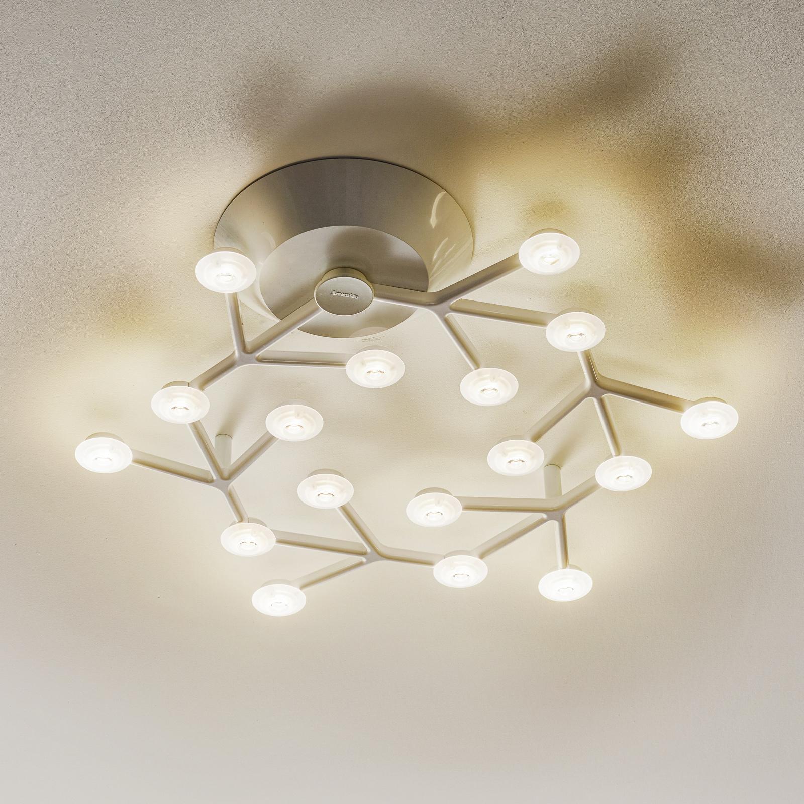 Hvit LED desiggnertaklampe LED Net Circle