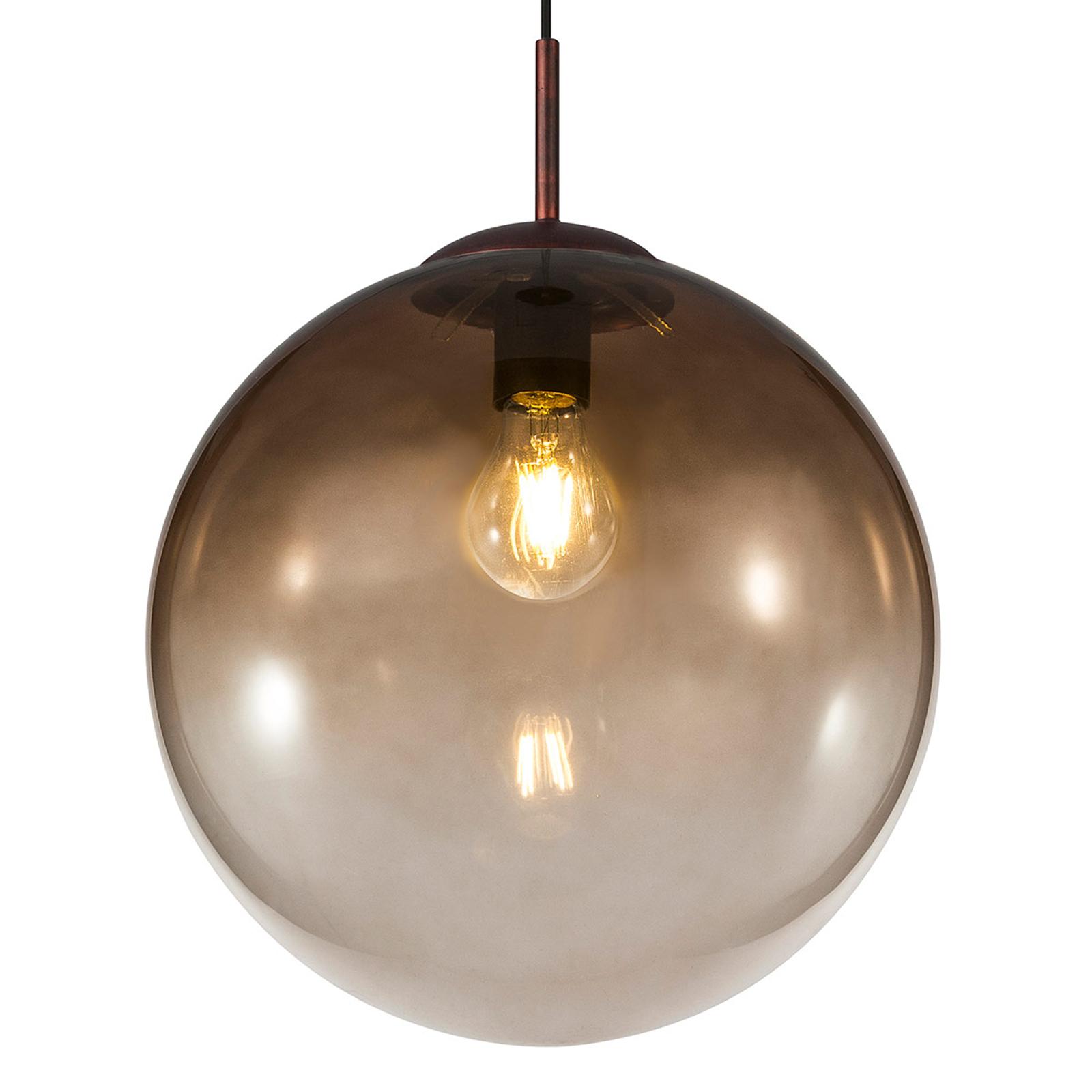 Lampada a sospensione di vetro Varus ambra Ø 33 cm