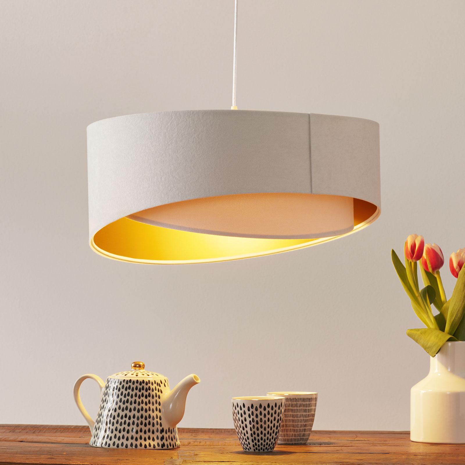2-kleurige hanglamp Chloe in gelaagde look