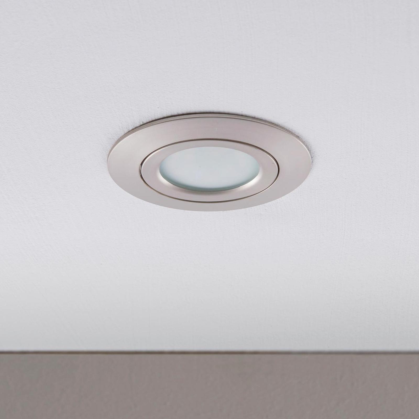 Downlight LED Andrej, rotondo, nichel