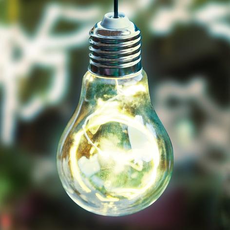 LED-pendellampe 48514 med solceller, glødepæreform