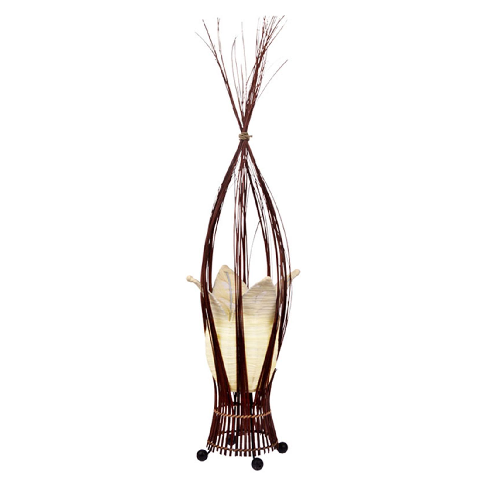 Stolní lampa Elena s látkovým stínidlem, krémová