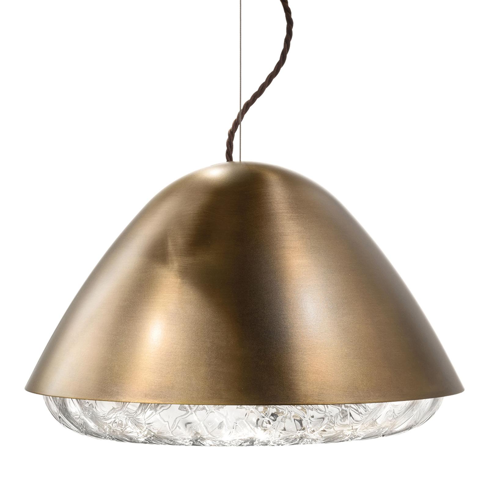 Lampa wisząca Kira SP P E27, mosiądz