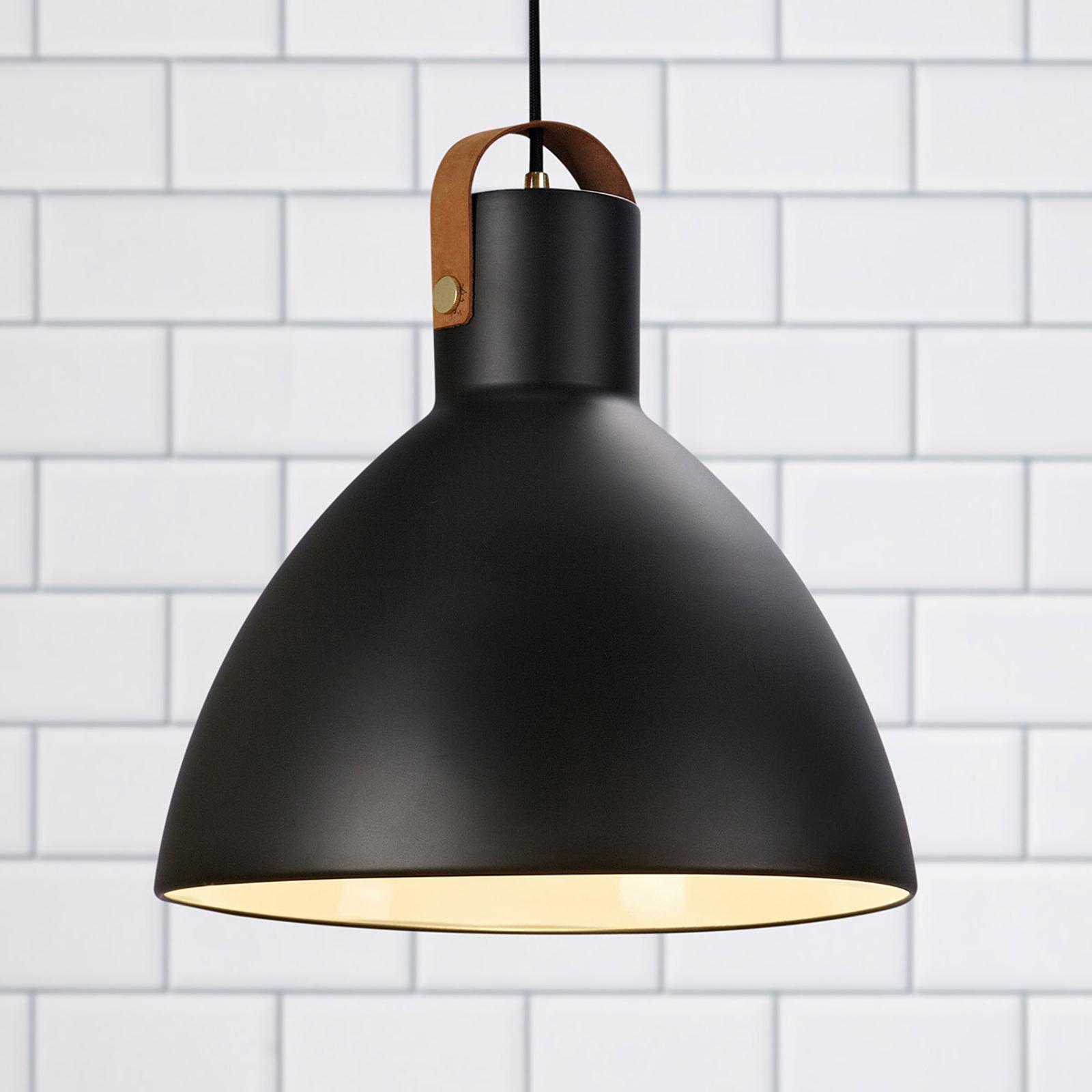 Hanglamp Eagle met metalen kap Ø 35 cm zwart