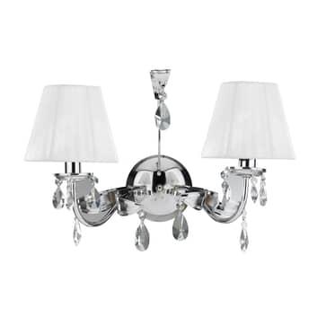 Wandlamp Jacqueline, 2-lamps, wit