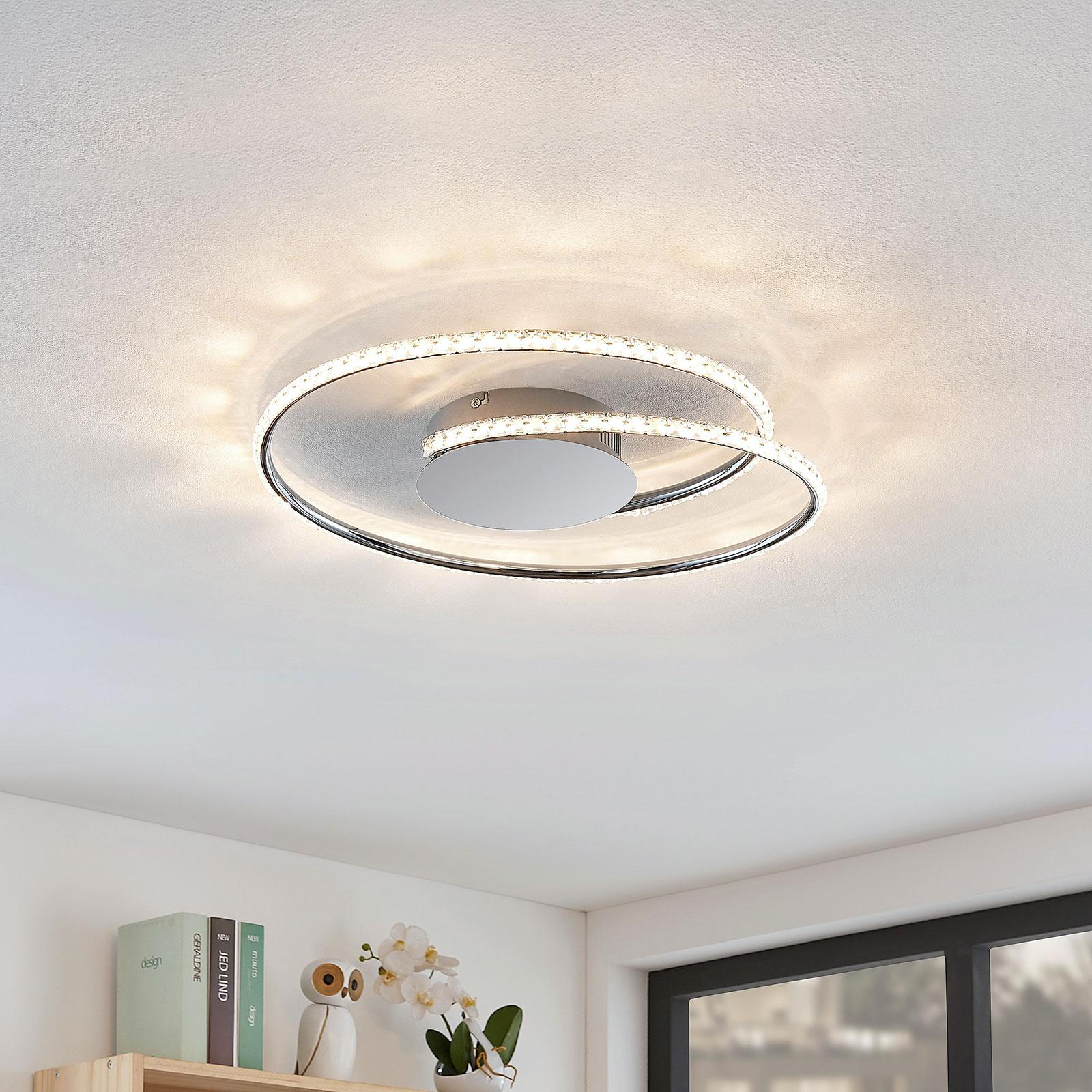 Lindby Joline LED-taklampe, krystall, 45 cm