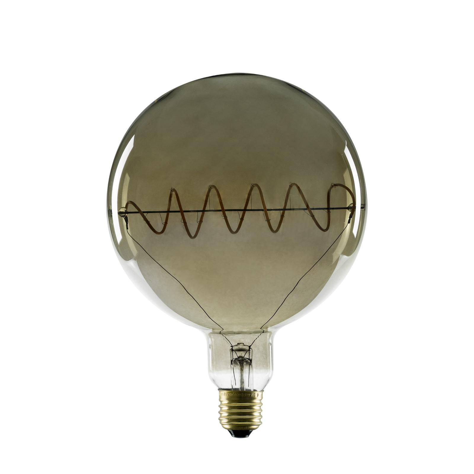 SEGULA LED Globe G150 E27 8W curved plus rauchgrau