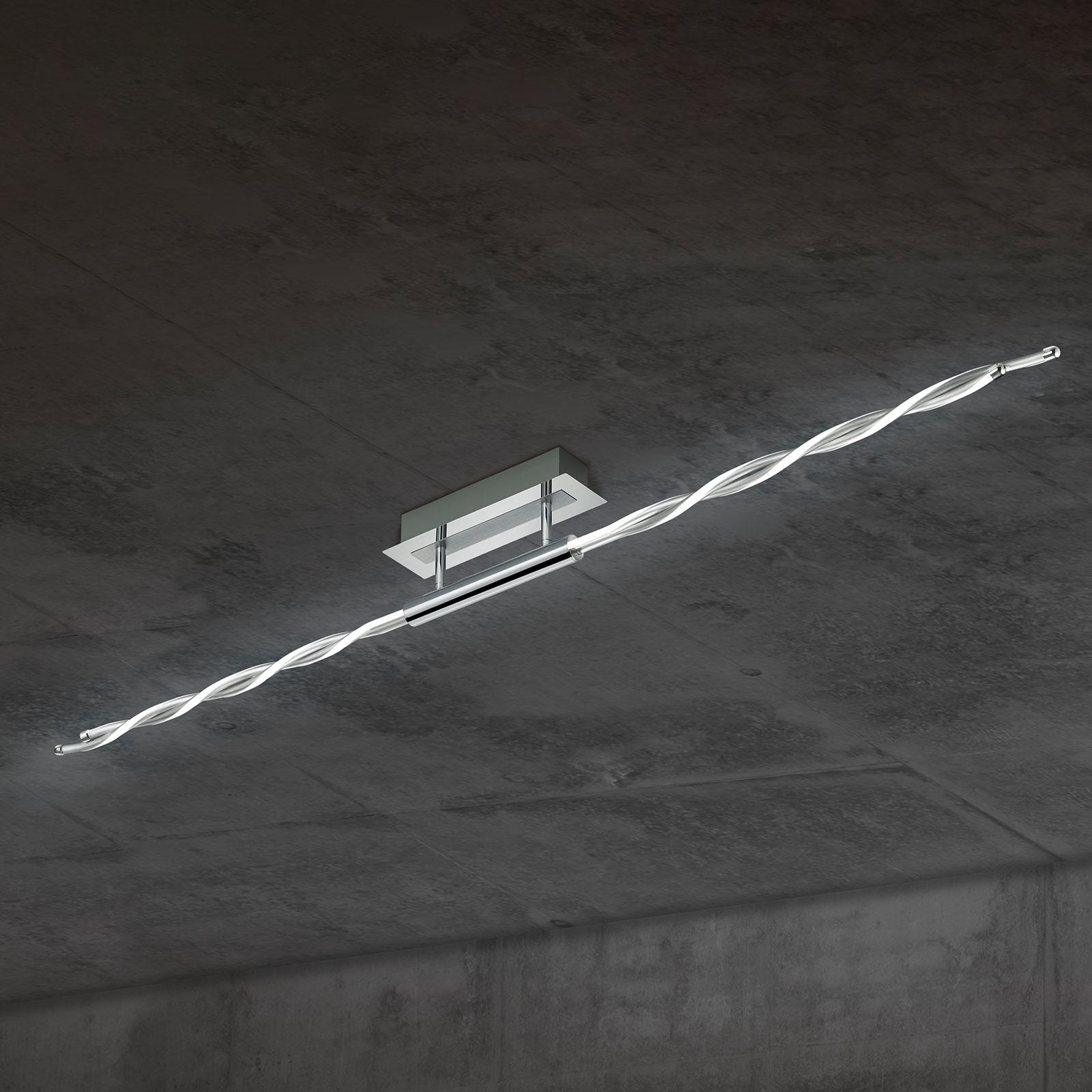 Ciekawie skręcona lampa sufitowa LED Portofino