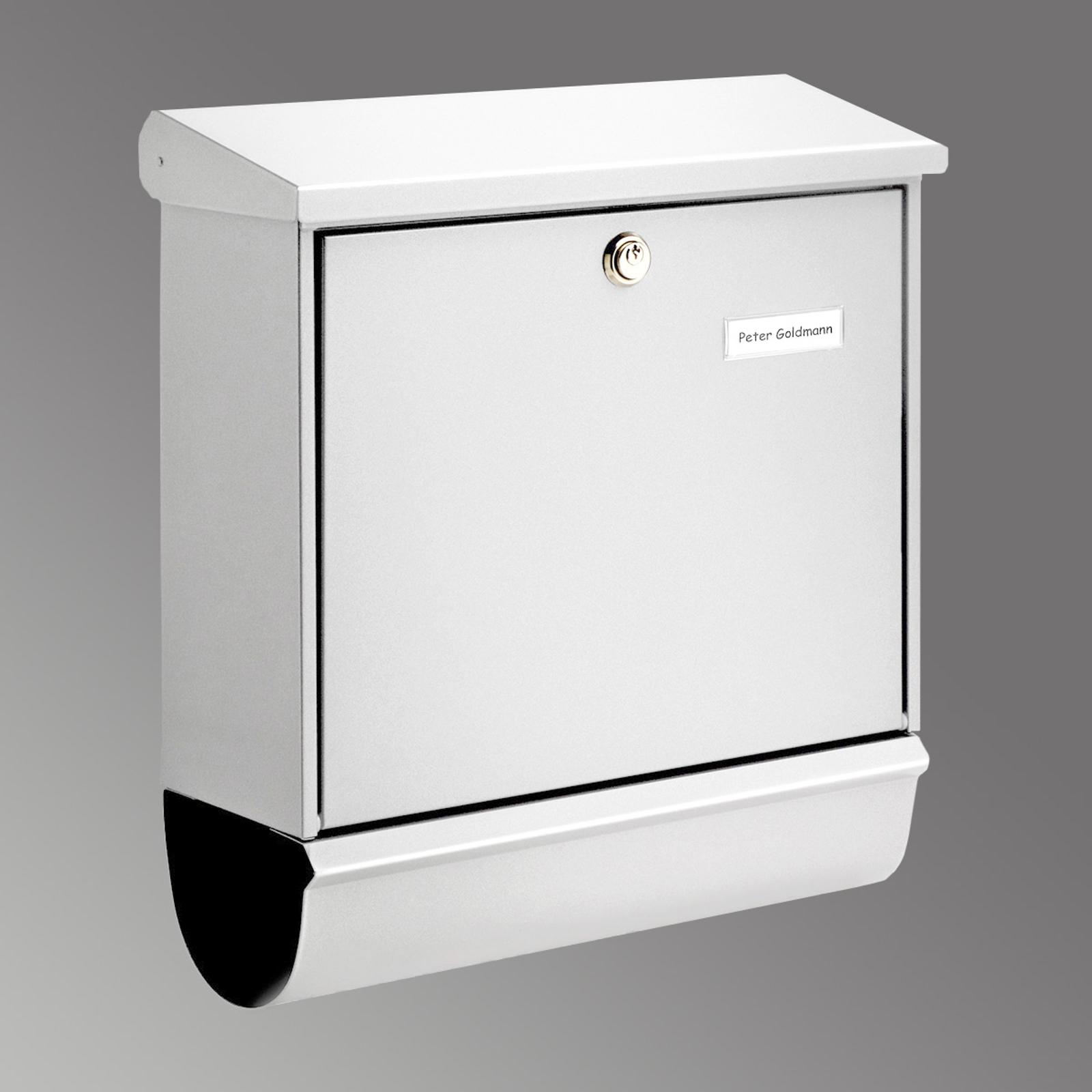 Buzón COMFORT-SET, compartimento periódico blanco